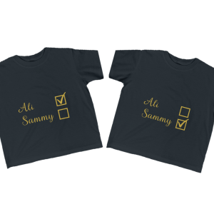 Twin Name Checkbox Shirt