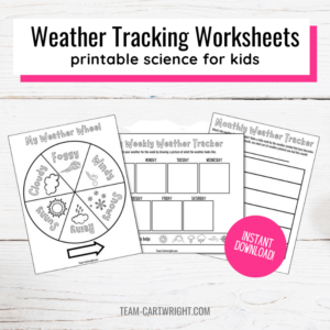 weather tracking worksheets