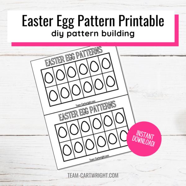 Easter egg pattern printable diy pattern building