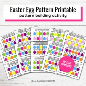 Easter Egg Pattern Printables pattern building activity